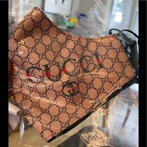 Fashion Mask/NWT/Beige/Brown/Adjustable Strap